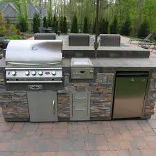 outside kitchen ideas outdoor kitchen design ideas with a multi level deck archadeck