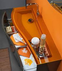 Colored Bathroom Sinks Corner Bathroom Sinks Creating Space Saving Modern Bathroom Design