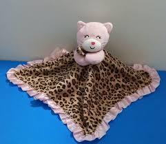 Cheetah Print Blanket Carters Pink Kitty Cat Cheetah Leopard Rattle Plush Baby Security