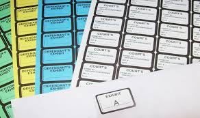 legal supplies exhibit stickers and exhibit tabs by the