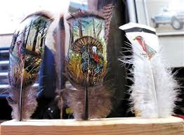 turkey feather painting out of feathers prairie state outdoors