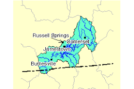 lake cumberland map cumberland lake cumberland watershed 05130103 surf your