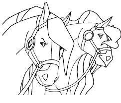 dessin de coloriage cheval à imprimer cp07193