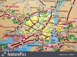 Map Of Quebec Canada by Signs And Info Montreal Map Quebec Stock Image I2488325 At