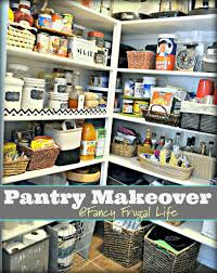 walk in pantry organization pantry makeover using baskets trays to keep organized