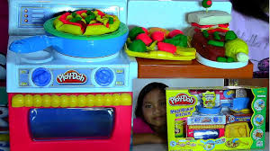 Toy Kitchen Set For Boys Play Doh Meal Makin Kitchen Playset Make Play Doh Foods Creations