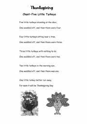 worksheets thanksgiving song worksheets