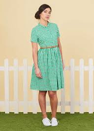 thelma gingham shirt dress vintage style day dress joanie