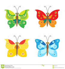 butterfly vector set icons set of simple flying butterfly vector
