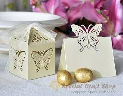 butterfly favor boxes luxury 10 wedding favour boxes bags 10 name place cards table