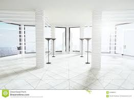 White Loft by White Loft Room With Columns Stock Image Image 34406631