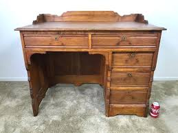 Small Wooden Writing Desk Small Wood Writing Desk Solid With Drawers Designing Home Vintage