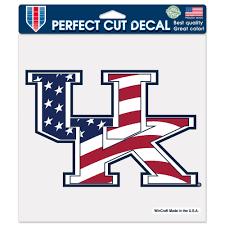Kentucky Flags Kentucky Wildcats Official Ncaa 8 Inch X 8 Inch American Flag Die