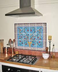 unique hand painted tiles kitchen backsplash in design decorating