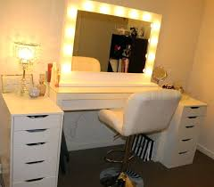 Vanity Set With Lights For Bedroom Lighted Makeup Mirror Wall Mount Bed Bath And Beyond Vanity Set