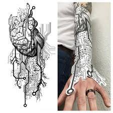 circuit board connection tattoo pictures to pin on pinterest
