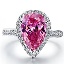 rings pink diamonds images Drop diamonds ring 9 11mm brand sterling silver engagement jewelry jpg