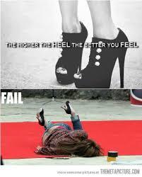 High Heels Meme - the higher the heel the meta picture