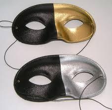 silver mask mens black silver or black gold eye mask