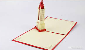 Cheap Invitation Cards Online 3d Empire State Building In Newyork Pop Up Card Gift Card Wedding