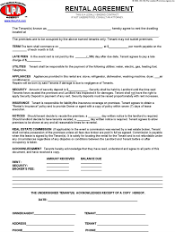 blank rental agreement templates download free