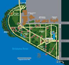 Botanic Gardens Brisbane City Brisbane City Botanic Gardens Map Brisbane Australia Mappery