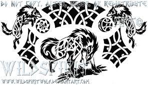 nordic ragnarok tribal wolf by wildspiritwolf on deviantart