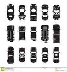 Car Plan View Car Icons Top View Stock Vector Image 42438835