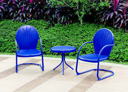 Backyard Collections Patio Furniture by Backyard Creations Woodstock Blue 3 Piece Bistro Patio Set