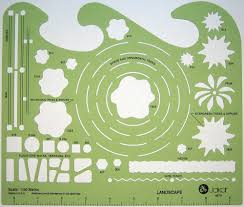 Garden Layout Template by Jakar Landscape Metric Stencil Amazon Co Uk Office Products