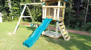 Home Depot Playset Installation Hawks Nest Playset Assembly Youtube