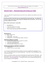 ielts general writing letters stage 2 brainstorming and writing