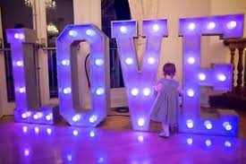 large light up letters hire 4ft giant led love large light up letters for weddings