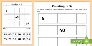counting in 2s primary resources ks1 number lines page 1