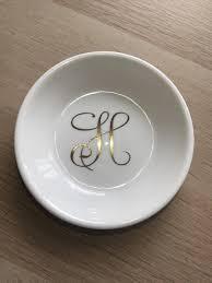 monogrammed ring monogrammed ring dish personalized engagement ring dish bridal
