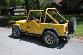jeep wrangler v8 1993 jeep wrangler yellow v8 tires top condition