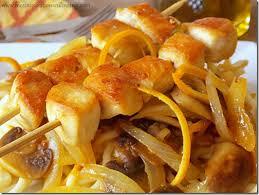 recettes de cuisine rapide et facile brochettes de poulet à l orange le cuisine de samar