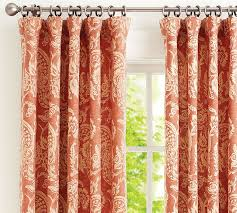 Orange Panel Curtains Drapery Panels For A Gray Dining Room Driven By Decor