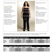 plus size size chart at nordstrom