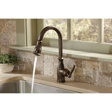 rubbed bronze pull kitchen faucet moen 7185srs brantford spot resist stainless pullout spray kitchen