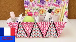 boite de rangement papier bureau rangement pliable pour cosmétiques ou stylos origami papier