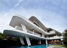 Modern Mansion World Of Architecture Modern Mansion Defined By Curves And