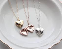 custom locket necklace personalized locket etsy