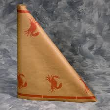 60 crab design printed paper table cover 40