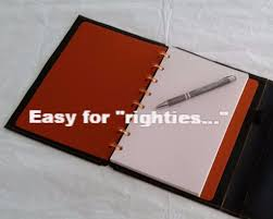 wrap around wrap around leather discbound notebook cover