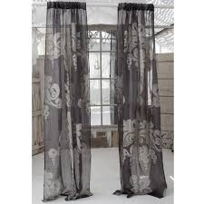 Slate Grey Curtains Enchantique Slate Grey Linen Window Curtain By Couture Dreams