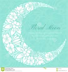 floral design decorated crescent moon stock image image of flora