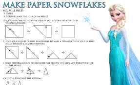 paper snowflakes free disney u0027s frozen printables