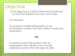 good career objective resume how to write a career objective on a