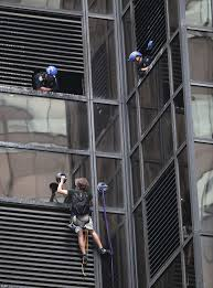 man is trying to scale trump tower on fifth avenue in nyc daily